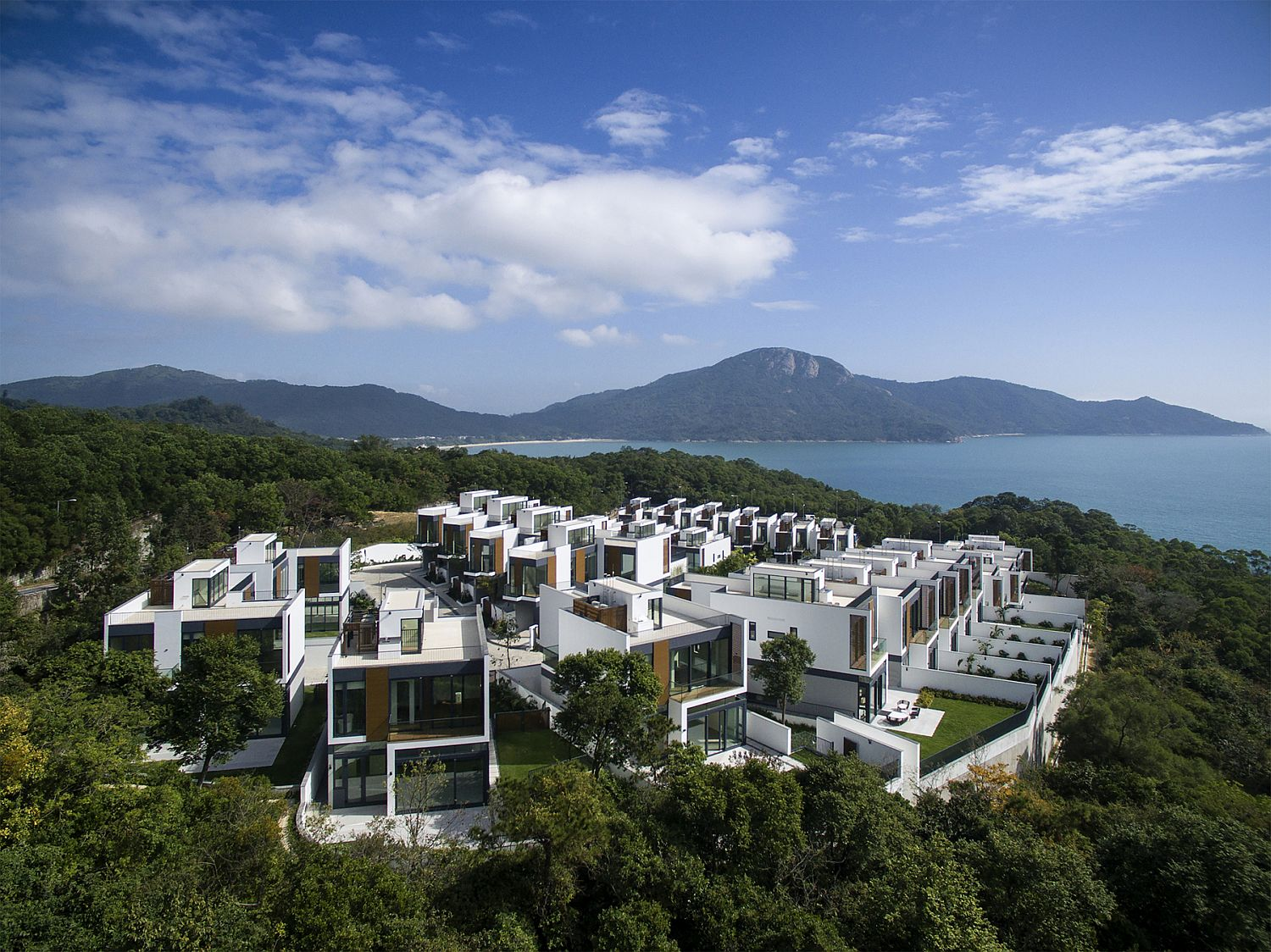 Modern residential development next to South China Sea