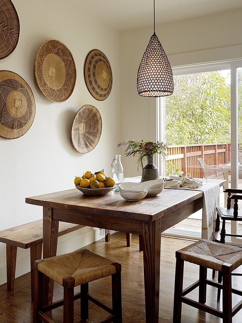 Rustic dining room with a multitude of textures
