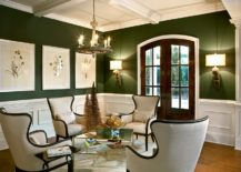 Smart-and-modern-living-roo-in-dark-green-and-white-217x155