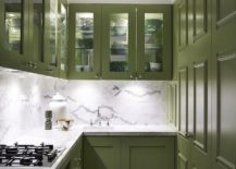 Space-savvy-contemporary-kitchen-in-white-with-gorgeous-green-cabinets-217x155