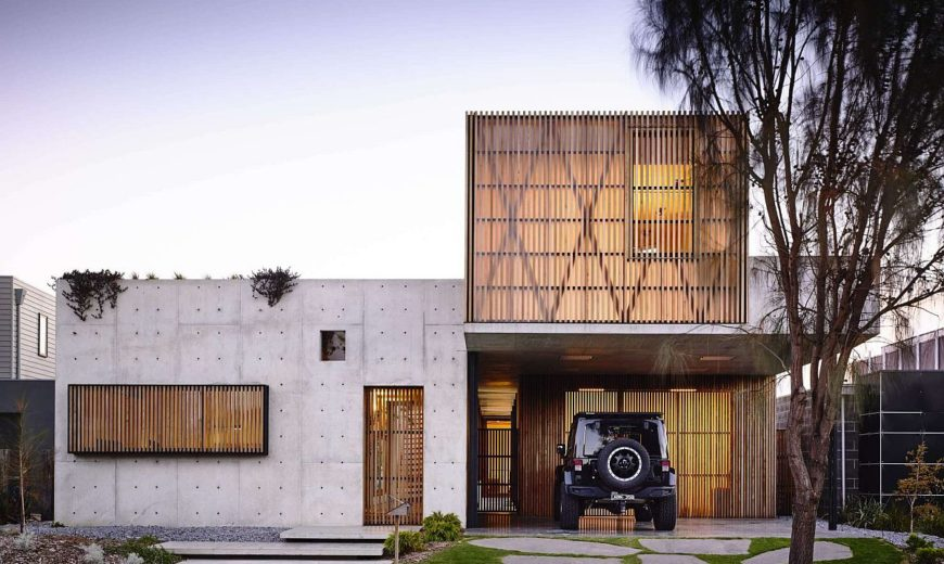 This Splendid Hardwood and Concrete House Captivates with Its Imperfections!