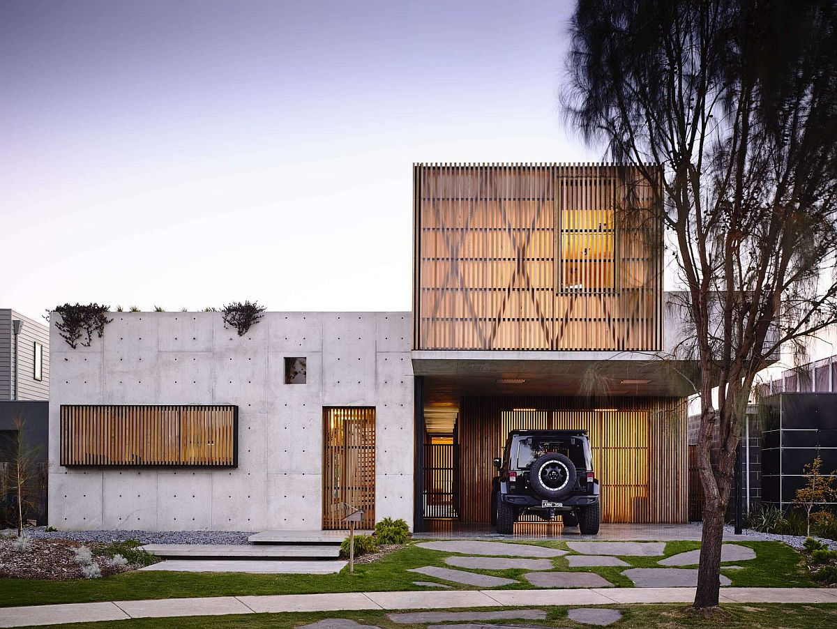 Torquay Concrete House in wood and concrete