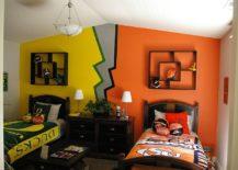 Two-different-color-schemes-for-the-shared-kids-bedroom-217x155