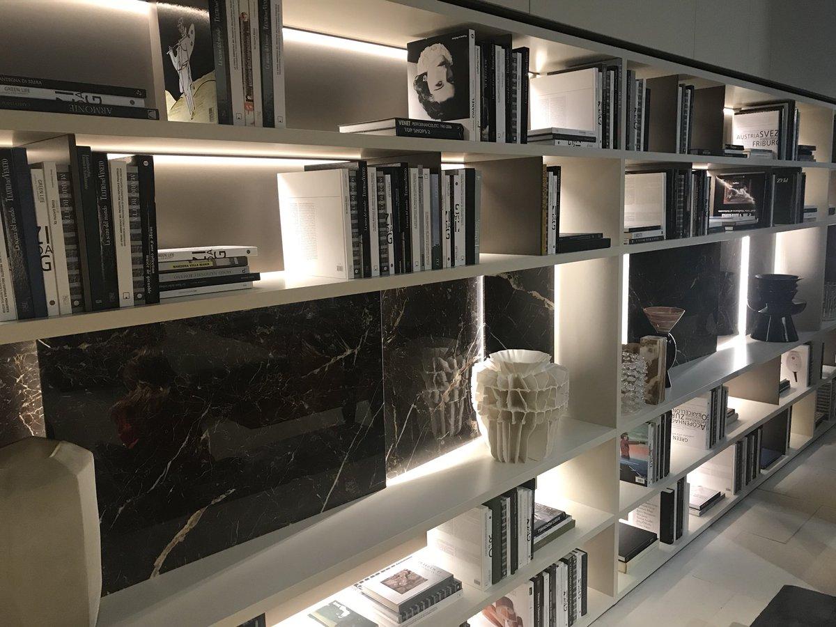 Beautifully illuminated modern bookshelf