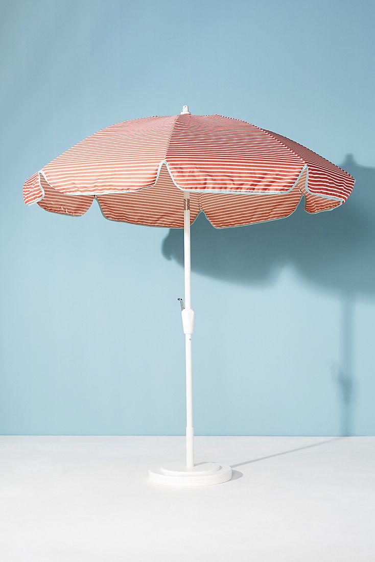 Cabana-style striped umbrella