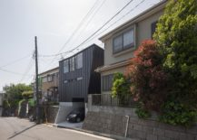 Contemporary-Japanese-home-with-a-dark-exterior-and-oblique-walls-217x155