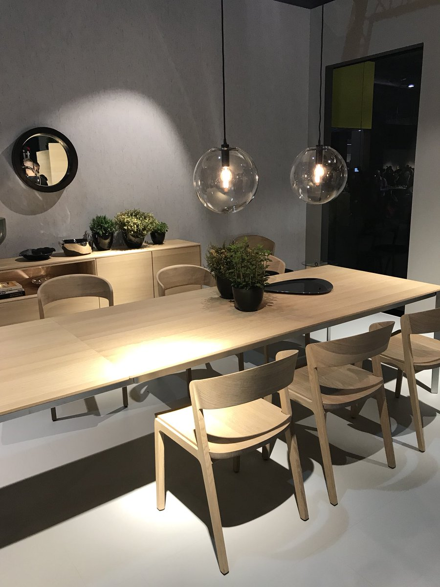 Dining space idea from TEAM 7 at Salone del Mobile 2018