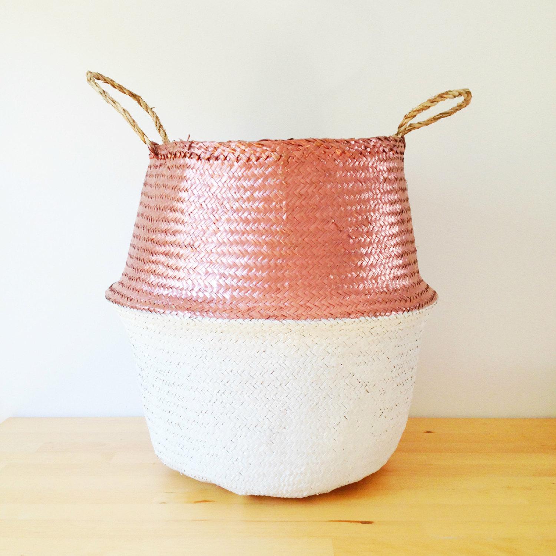 design trend seagrass belly baskets. Black Bedroom Furniture Sets. Home Design Ideas