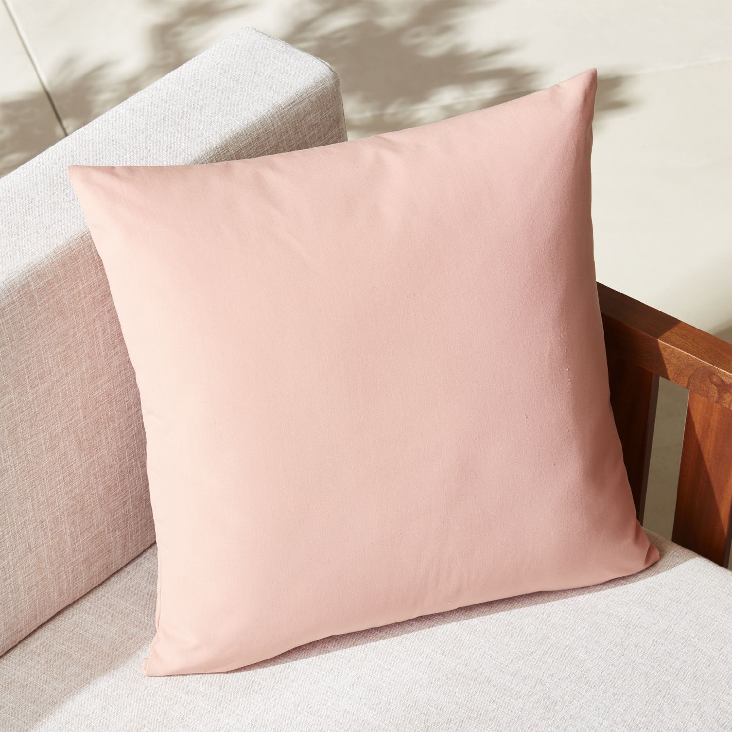 Dusty pink outdoor pillow