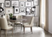 Exquisite-dining-room-in-black-and-white-with-cool-gallery-wall-that-uses-black-and-white-art-217x155