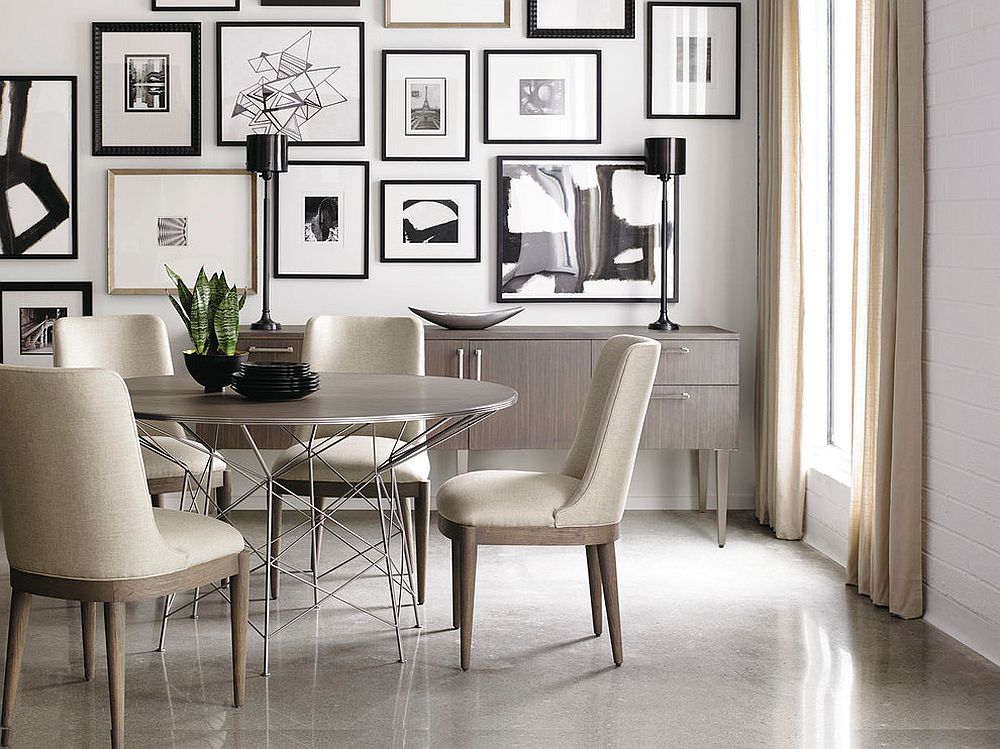 Dining room in black and white from moodhouse interiör view in gallery