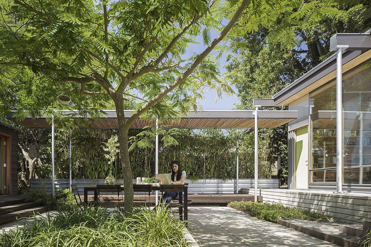 Finding solitude in a beautiful courtyard