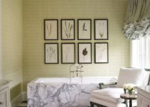 Green-coupled-with-trendy-framed-botanicals-in-the-bathroom-217x155