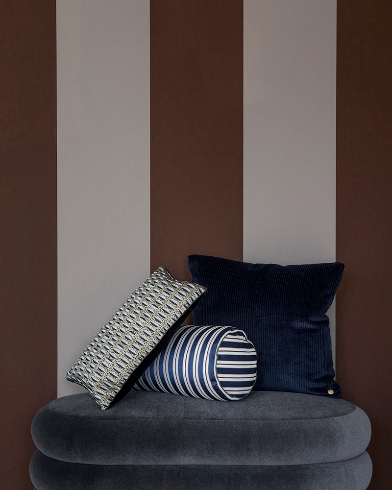 Grey pouf from ferm LIVING