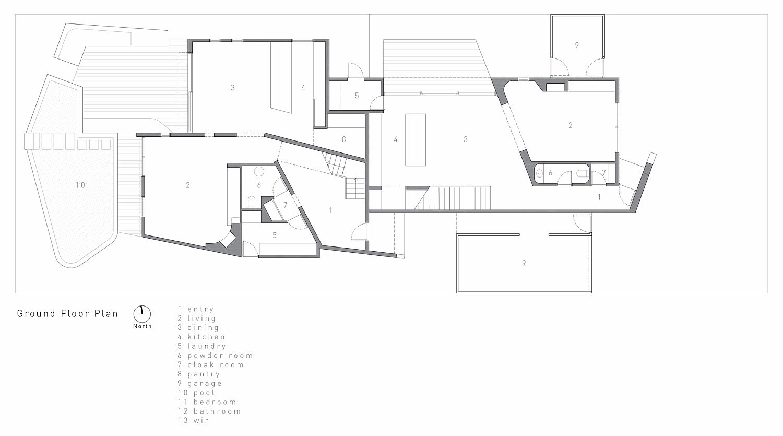 Ground floor plan of the Washington Avenue Townhouse