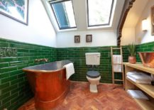 Ingenious-and-vintage-bathroom-with-smart-use-of-green-and-a-copper-bathtub-217x155
