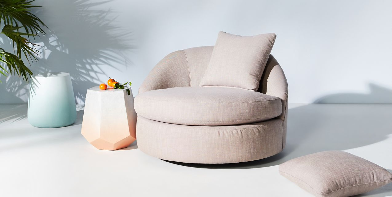 Modern swivel chair form Anthropologie