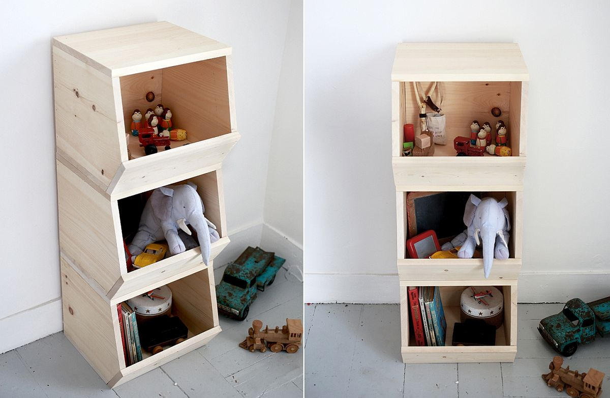 Modern toy bins for those who prefer a more open storage option