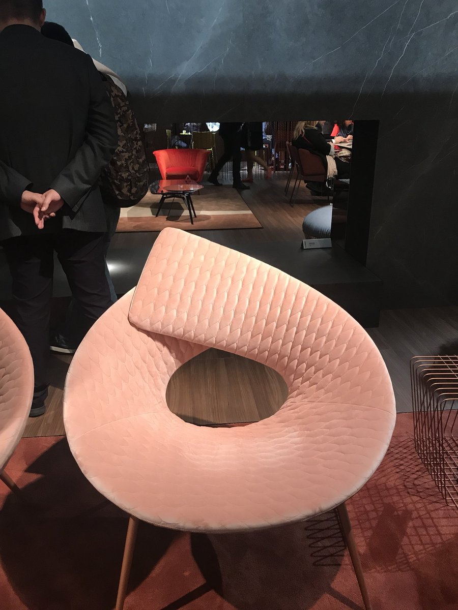 Pink meets polished panache with luxurious seating from Bonaldo