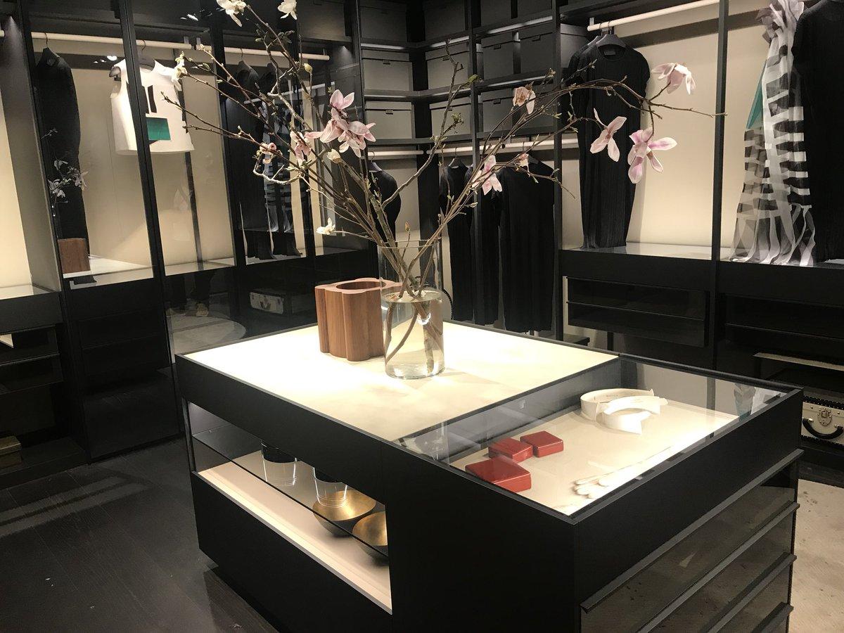 Polished walk-in closet design from Poliform
