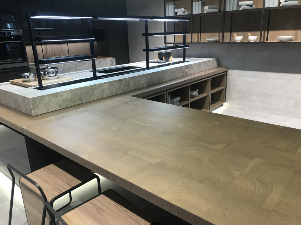 Porcelanosa bring cutting-edge kitchen surfaces to iSaloni