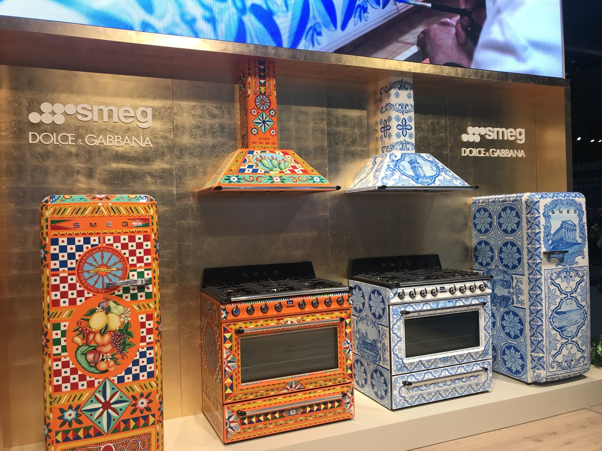 Refrigerators, ovens and chimneys with fun motifs from Dolce & Gabbana