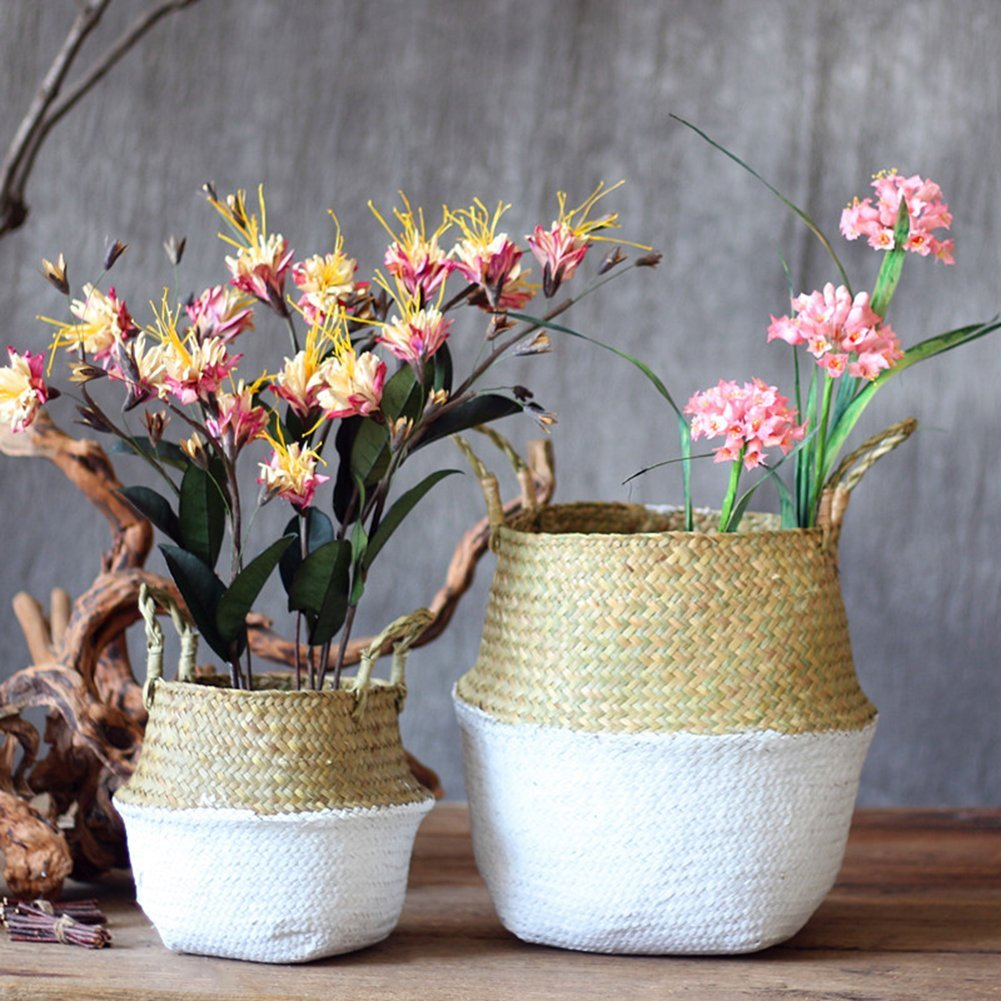 Seagrass-plant-baskets-with-white-paint