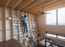 Second-level-living-area-and-bookhshelf-of-the-Japanese-home-217x155