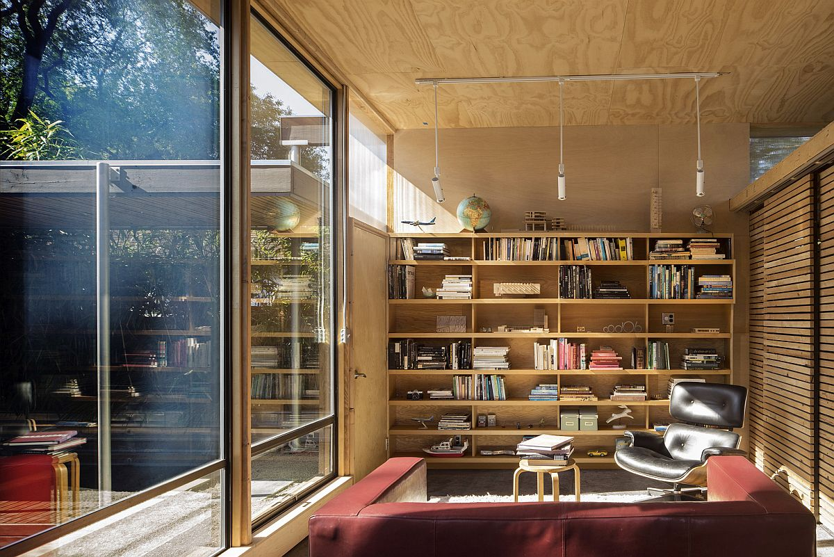 Sitting area and studio of the revamped Seattle home