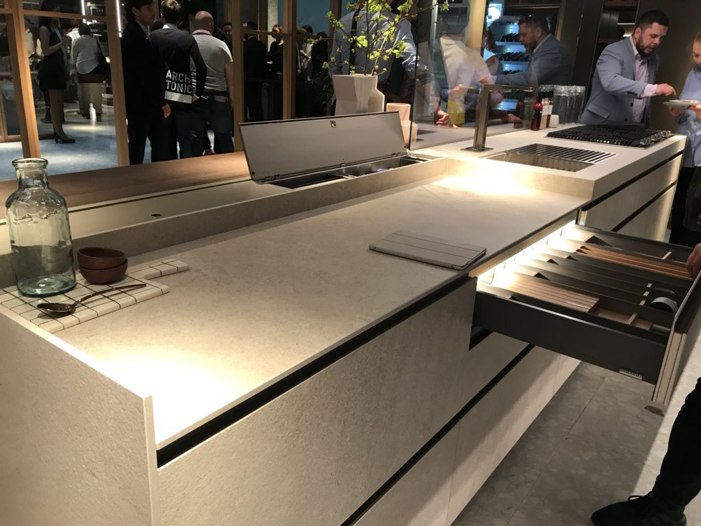 Space-savvy kitchen islands from Ernestomeda Kitchens at iSaloni