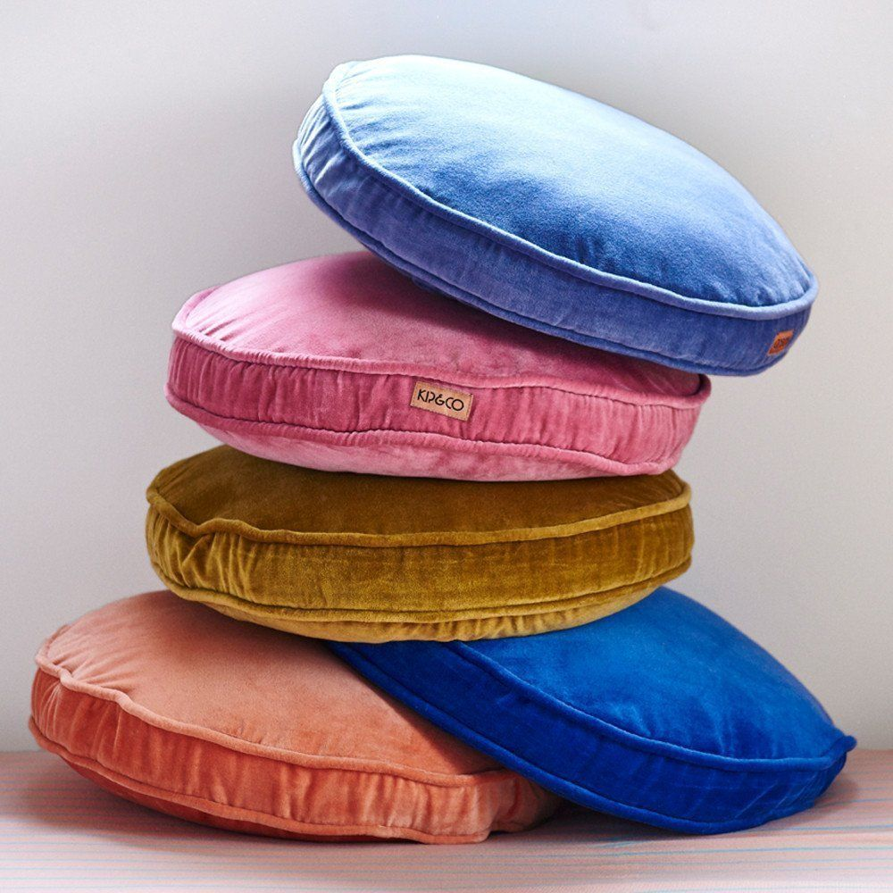 Velvet cushions from Kip and Co