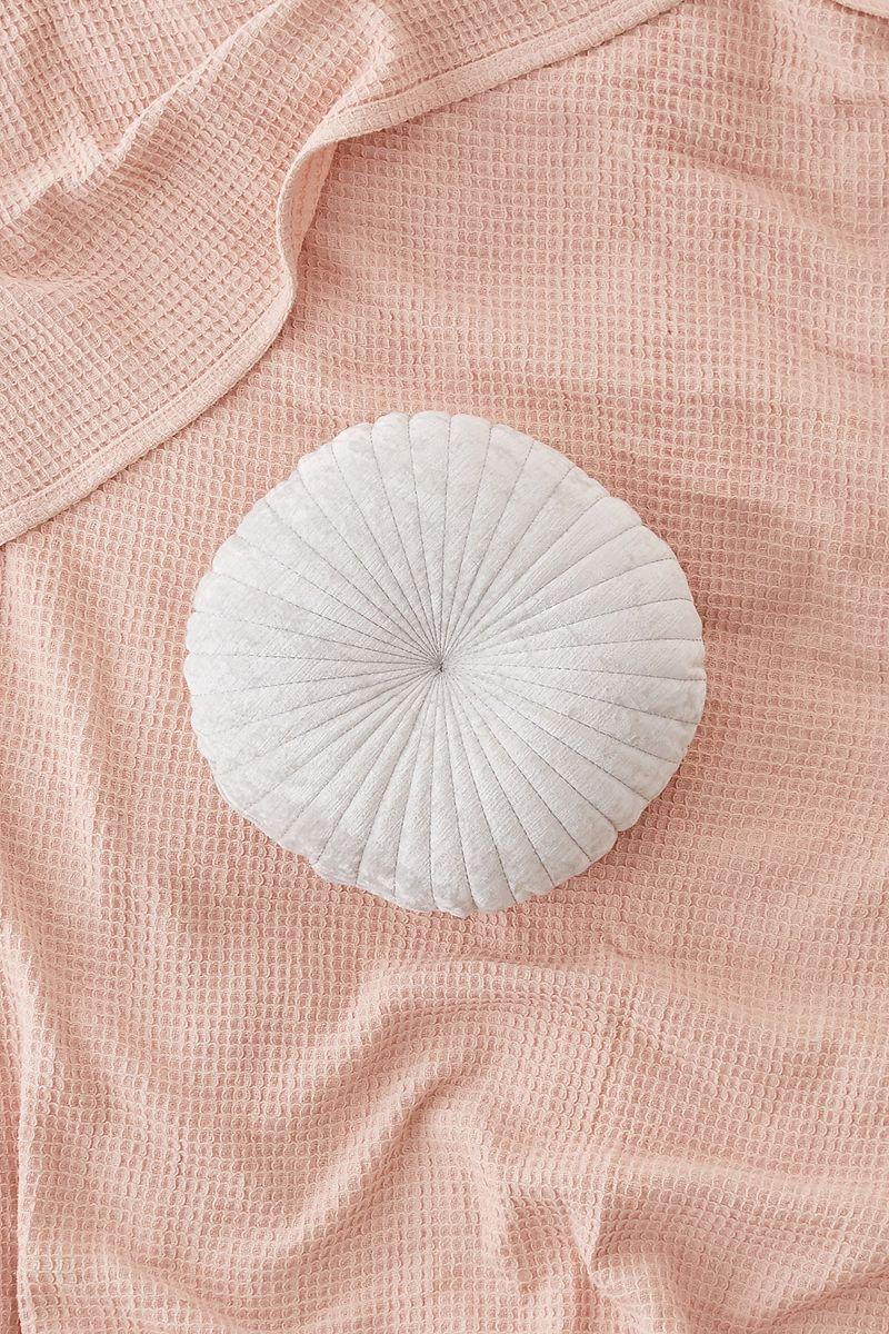 White velvet cushion