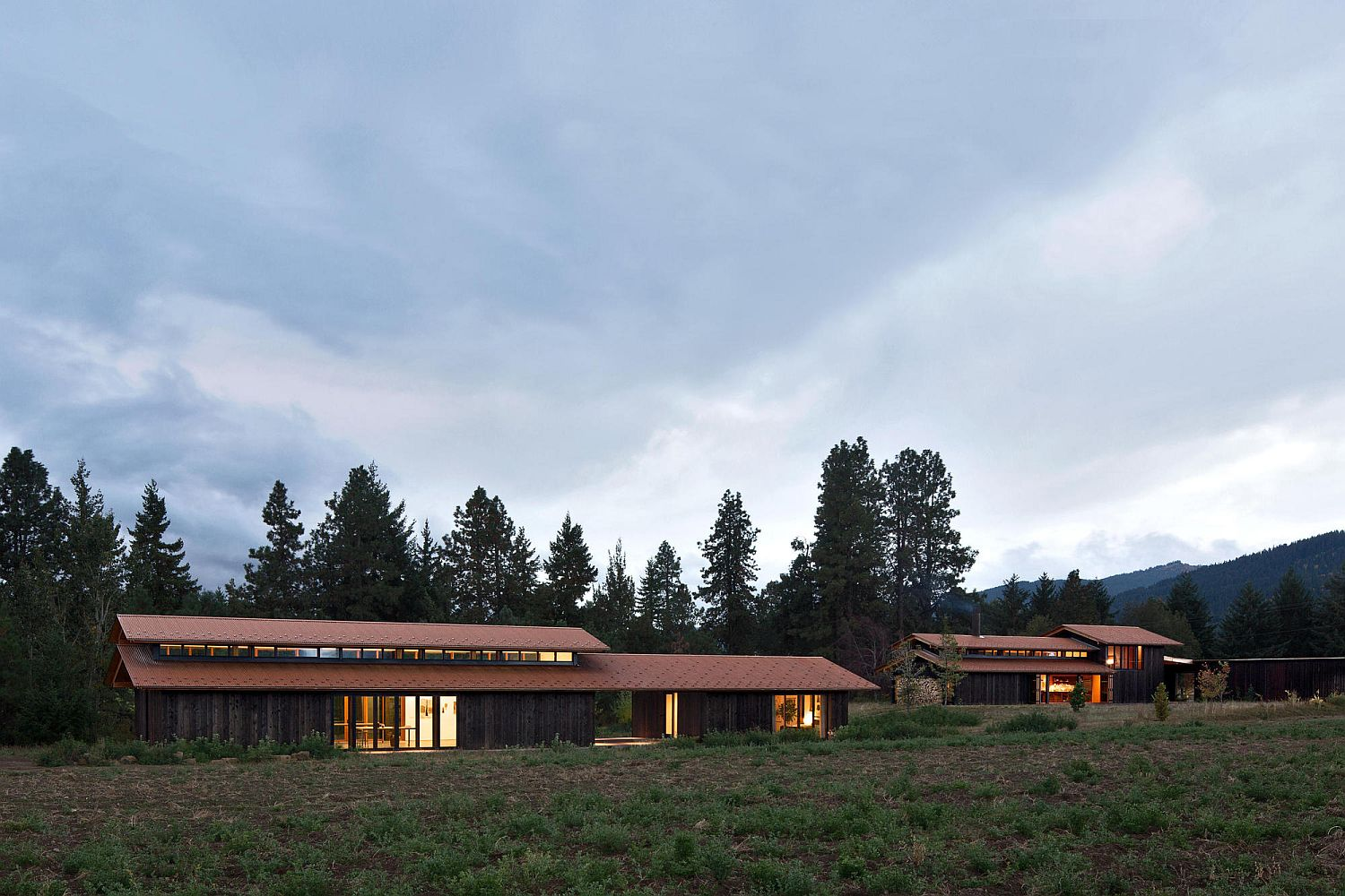 Wild landscape surrounds the beautiful Trout Lake House