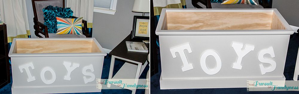 Wooden homemade toy box