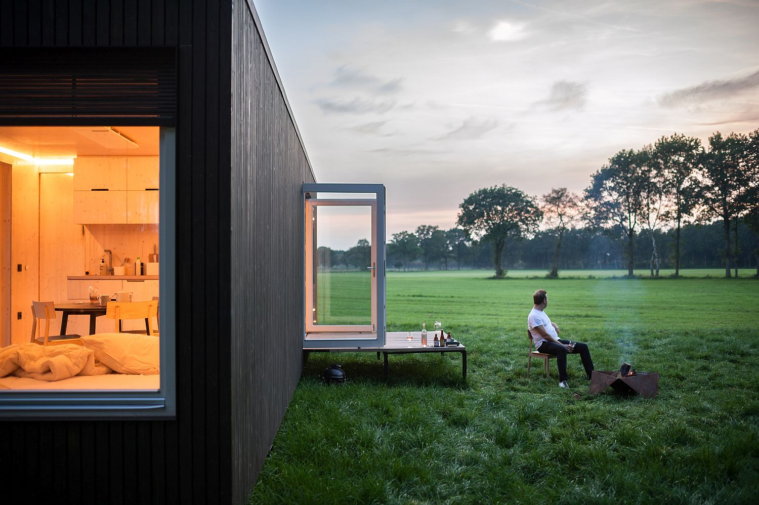 3 Cabins in Belgium by Ark-Shelter