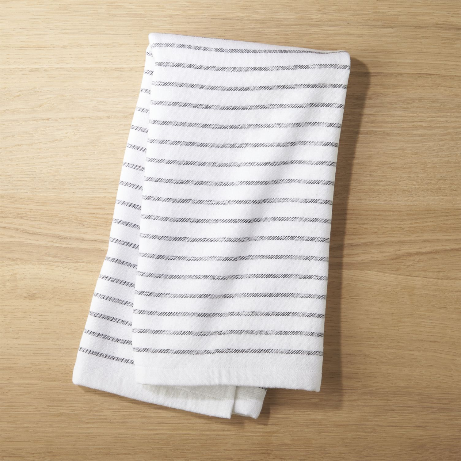 Black and white striped dish towel