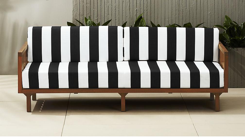 Black-and-white-striped-sofa