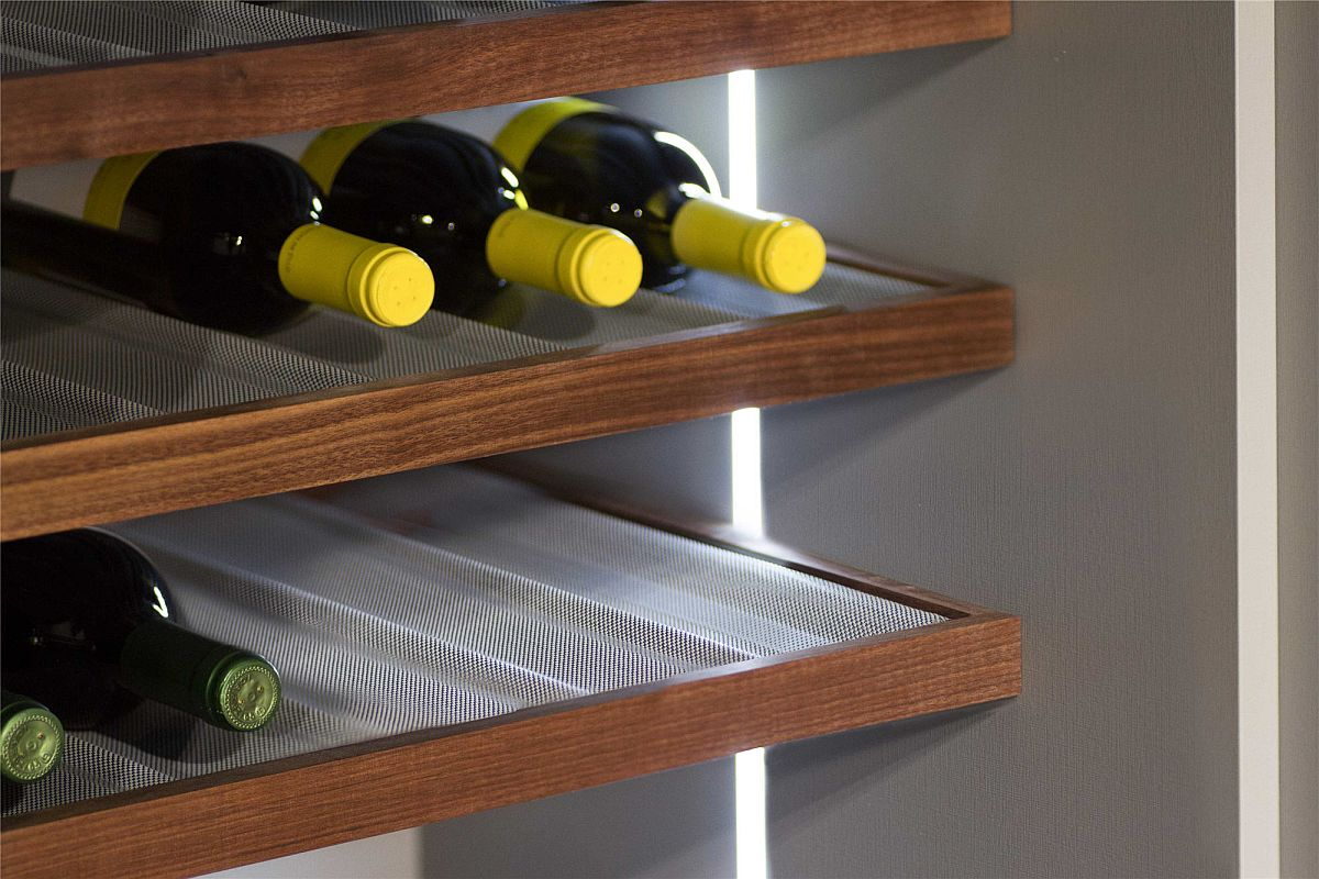 Clever kitchen storage solutions used inside Scavolini kitchen