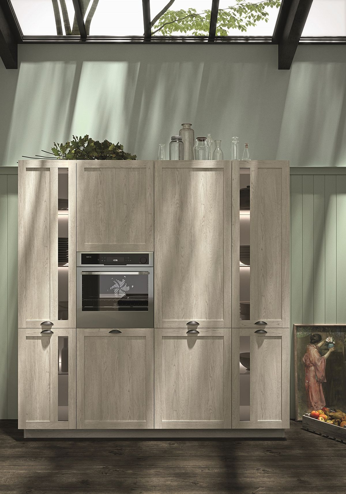 Combining contemporary appliances with classic kitchen units
