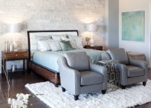 Contemporary-bedroom-with-stone-accent-wall-217x155