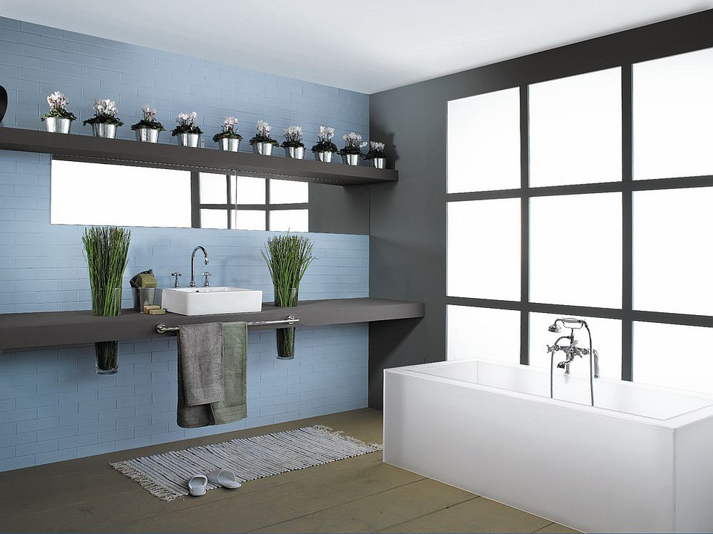 Contemporary industrial bathrooms combine serenity with smart deisgn