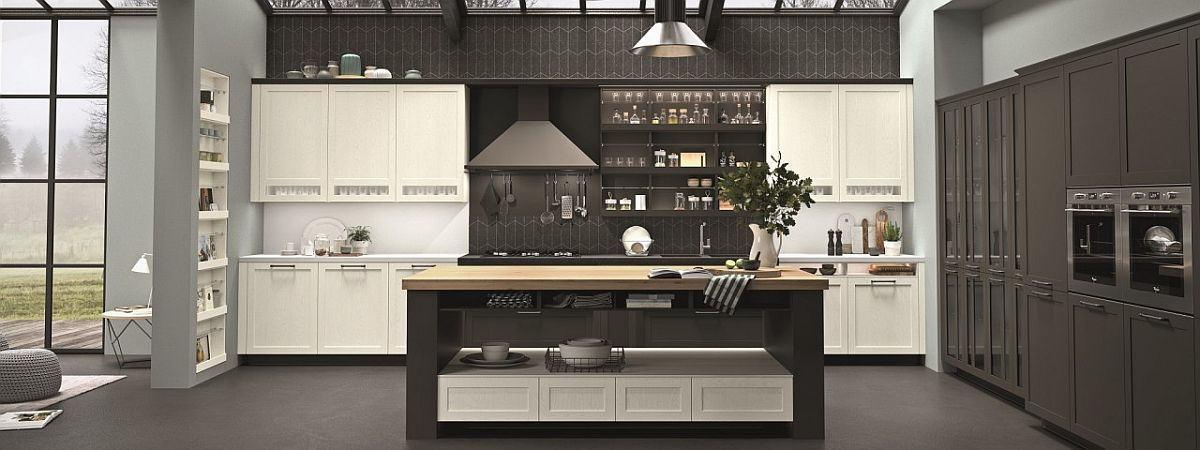Contemporary kitchen with English countryside charm
