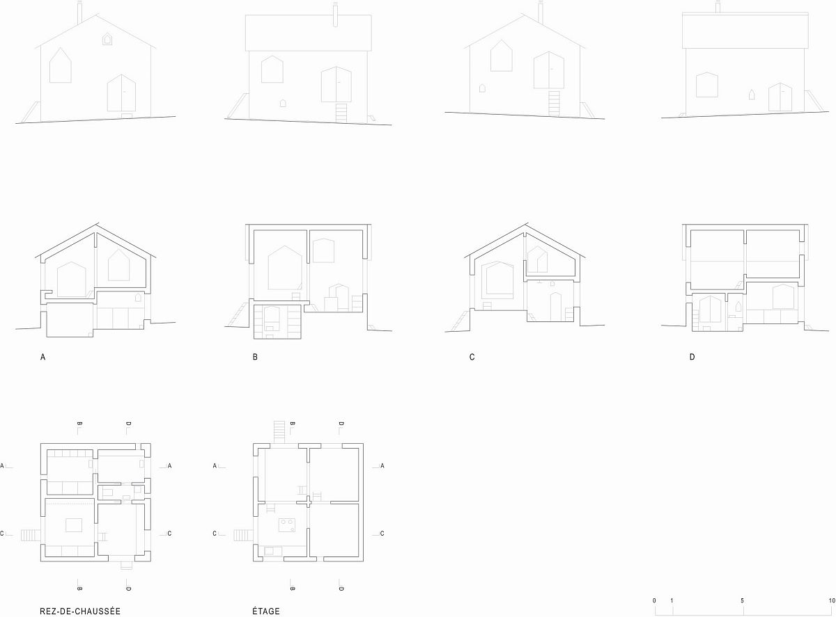 Design of plan Reconstruction of a Chalet