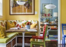 Eclectic-dining-room-in-yellow-with-a-touch-of-green-217x155