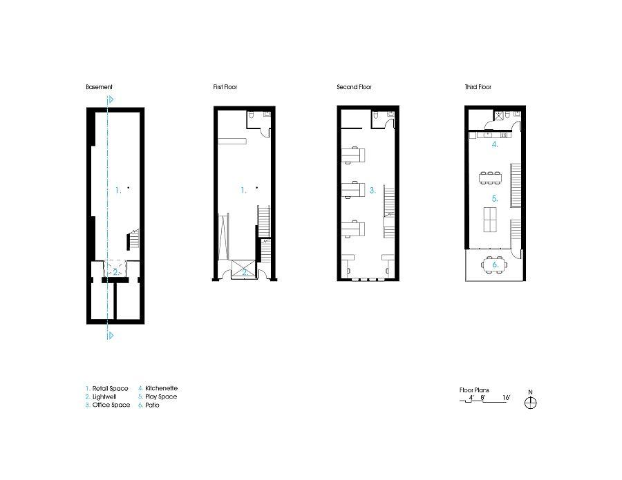 Floor plan of 112 East Washington in Iowa City