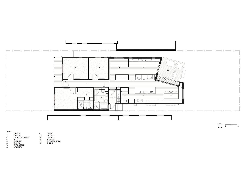 Floor plan of Rathmines House in Melbourne