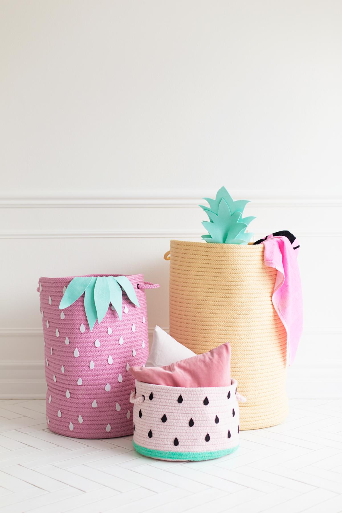 Fruit-motif-storage-baskets