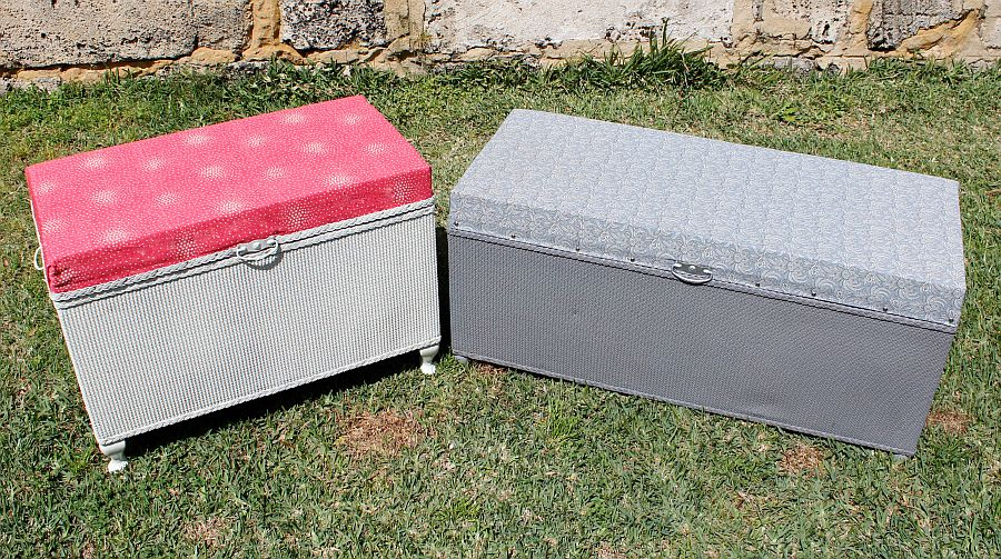 Fun and colorful DIY toy chests