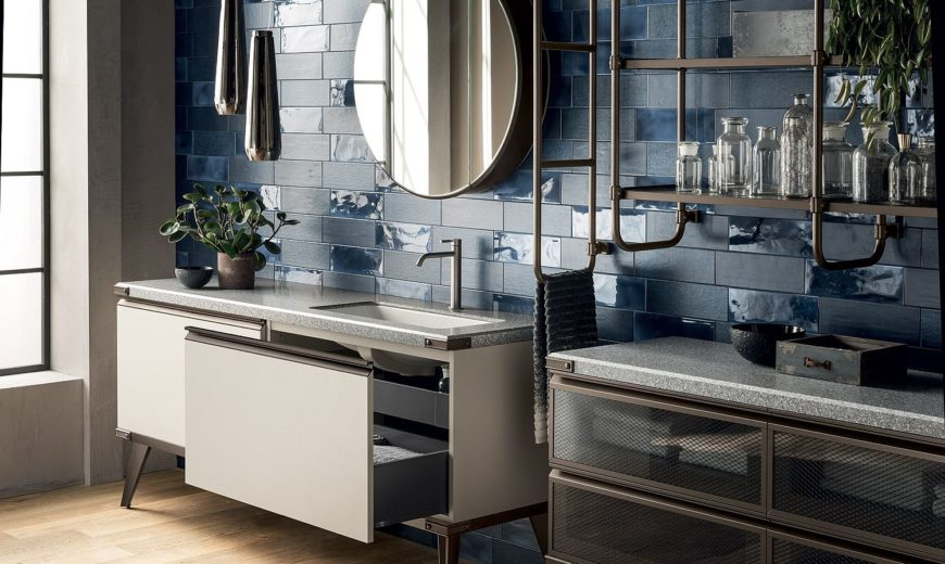 Industrial Minimalism at its Efficient Best: Stunning Bathroom with Modular Ease