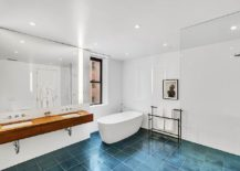 Industrial-minimal-bathroom-in-blue-and-white-217x155